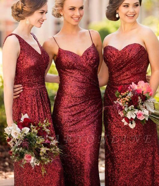 Cheap Burgundy Mismatch Bridesmaid Dress Long Sequin Bridesmaid Dress In 2020 Bridesmaid Sequin Bridesmaid Dresses Bridesmaid Gown,Wedding Dress Sample Sale Online Uk