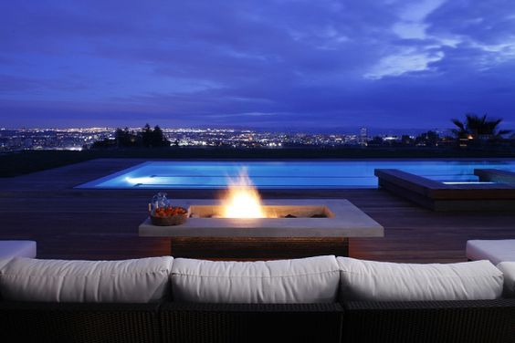 firepit with a view
