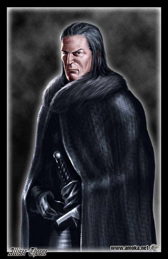 Alliser Thorne - Irmão Juramentado a Patrulha da Noite e Mestre de Armas em Castelo Negro.