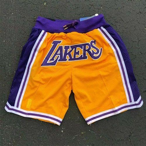 KOBE BRYANT LOS ANGELES LAKERS NBA SHORTS HWC #24 AND 8 PURPLE ...