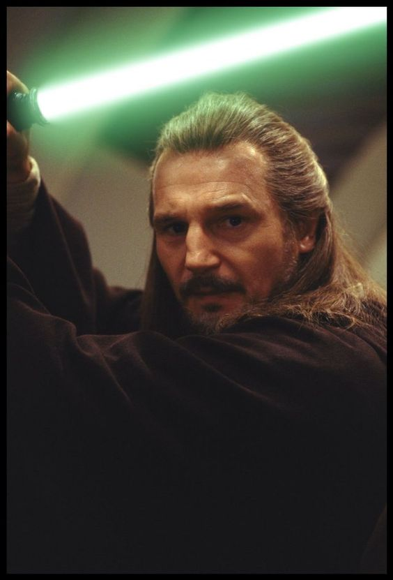 Qui Gon Jinn. Not a big Star Wars fan, but he was always my favorite. And later when I found out he was played by Liam Neeson, I understood why. :)
