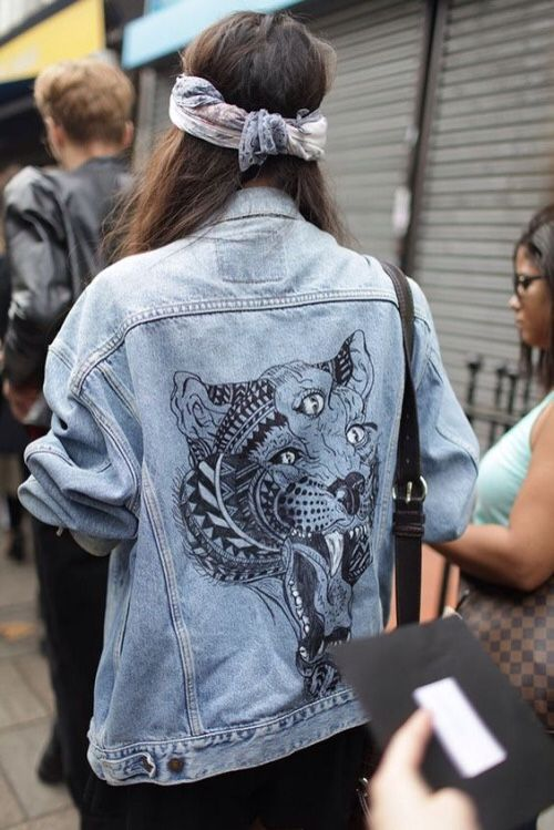 Denim jacket print = love!: