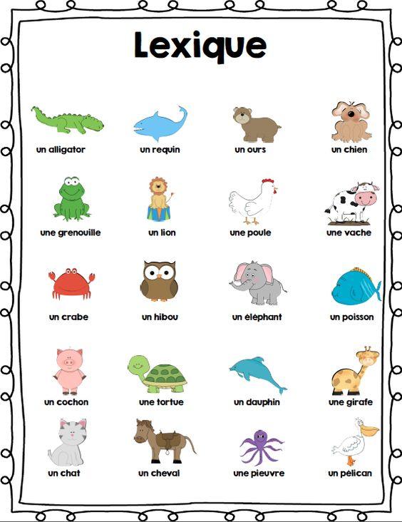 ensemble d 39 activit s sur les animaux french animals activity bundle animaux activities and. Black Bedroom Furniture Sets. Home Design Ideas