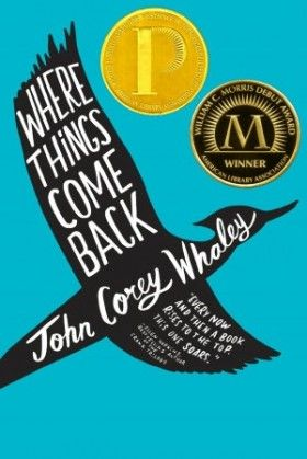 In 2015 we're featuring our first teen selection for Read Across Lawrence: the Printz and Morris Award winning Where Things Come Back by John Corey Whaley!