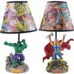 Luminárias Marvel: Thor, Cap. América, Spiderman e Hulk