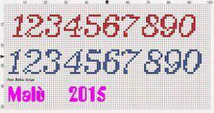 Risultati Immagini Per Numeri Disney Punto Croce Alfabeti Numeri
