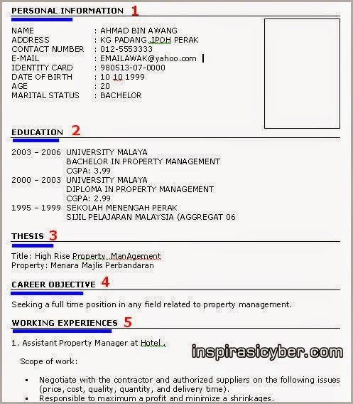 Format Resume Kerja Kerajaan Resumeformat Resume One Page Resume Template Resume Format Download