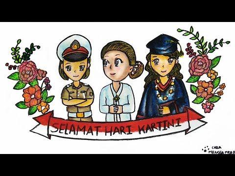 Cara Menggambar Dan Mewarnai Tema Memperingati Hari Kartini 21 April Yang Bagus Mudah Untuk Pemula Youtube Cara Menggambar Kartun Gambar Kartun