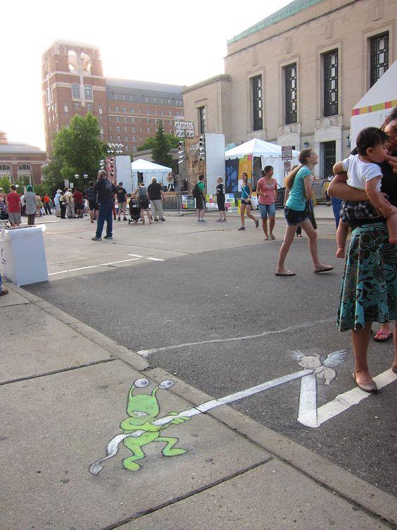 Ann Arbor Summer Festival Installations, 2012-2014 | David Zinn