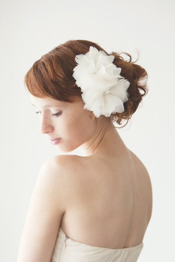 Frozen Whisper - Bridal Hair piece - Made to Order. $87.50, via Etsy.