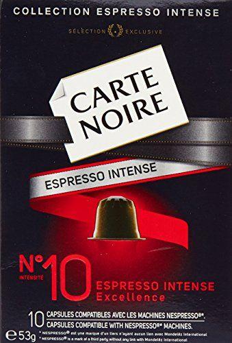Carte Noire Collection Espresso Intensité N°10 Excellence – Capsules Compatibles Nespresso – Lot de 4 (40 Capsules au Total)