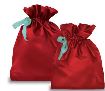 Satin Xmas gift bags