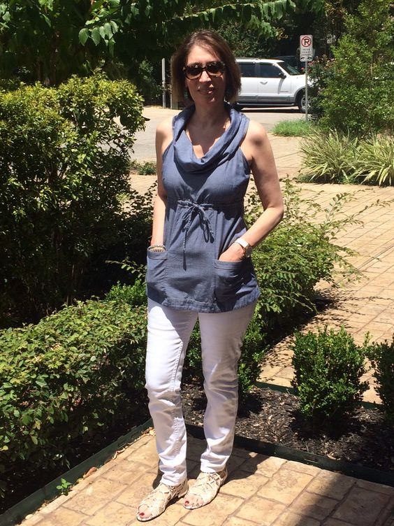 Tuesday Tip: White and Blue   We are sure getting lots of wear out of our white jeans these days! I love pairing them with a denim shirt - it's a cool summer look that never goes out of style. Happy Day! ~ Pat. http://www.asburylanestyle.com/b…/tuesday-tip-white-and-blue #whiteandblue #whitejeans #denimtop #asburylanestyle