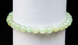 Jade jadéite bracelet perles rondes ø 6mm.