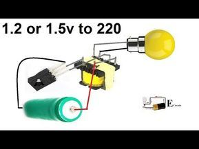 1 5v To 220ac Inverter Circuit Youtube Rangkaian Elektronik Teknologi Elektronik