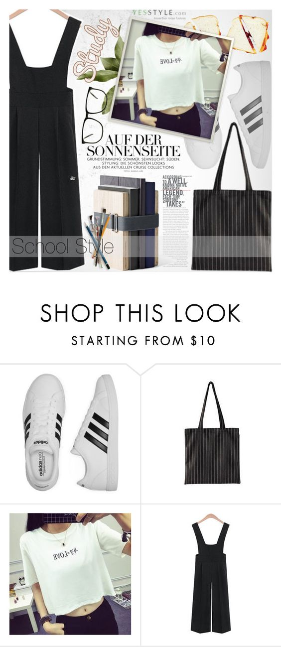 """""""YesStyle Polyvore Group """" Show us your YesStyle """""""" by vanjazivadinovic ❤ liked on Polyvore featuring adidas, Menu, BackToSchool, outfit, polyvoreeditorial and yesstyle"""