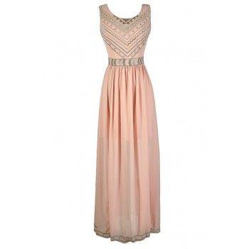 Pink Maxi Dress, Pink Embroidered Maxi Dress, Cute Pink Dress, Pink and Gold Dress, Pink and Gold Embroidered Dress