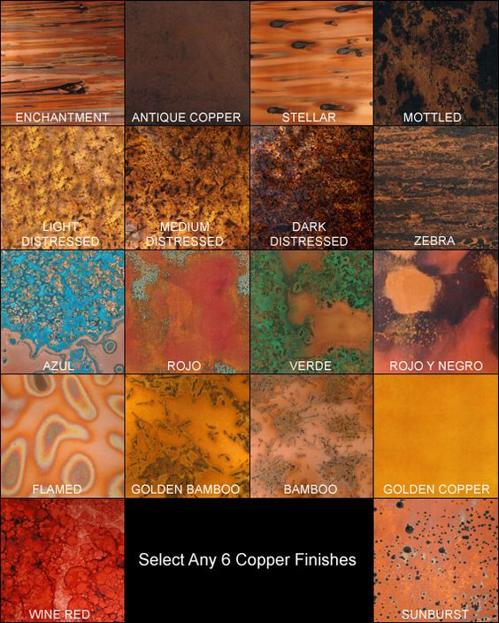 Sample Copper Insert Pattern Glass Mosaic Tile Kitchen: Small Copper Sample Pack - Choose Any 6 Samples