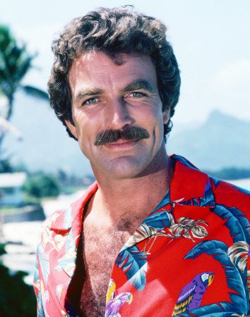 Tom Selleck Photo... The man with the 'stash and the sports car!  *sigh*