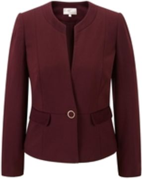 CC Berry ribbed ponte jacket, Berry