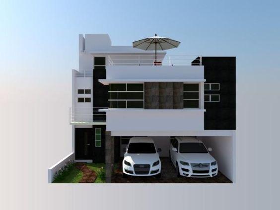 Fachadas de casas de 6 metros de frente modernas buscar for Buscar casas modernas