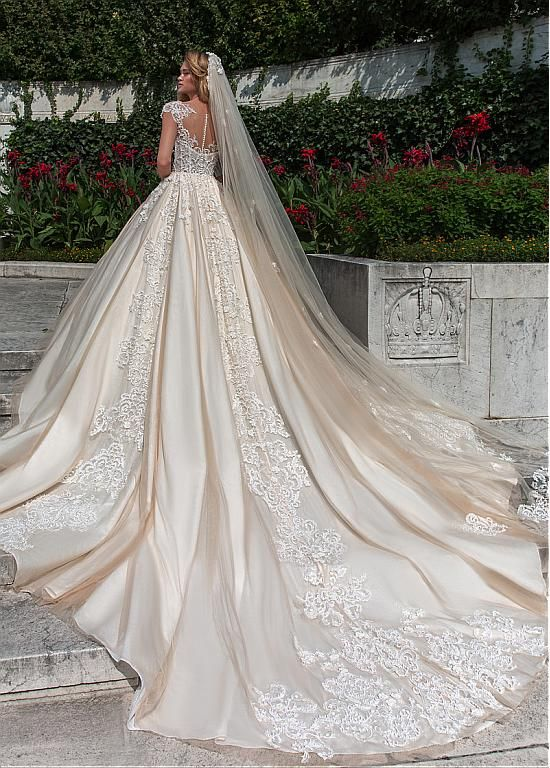 a fairy tale princess in this wedding dress