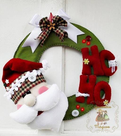 Guirlanda Papai Noel | Girassóis Mágicos | 19D091 - Elo7