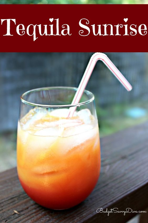 Tequila tequila sunrise and drinks on pinterest for The perfect drink mixer