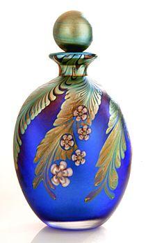 Beautiful Okra Glass Paradise perfume bottle!