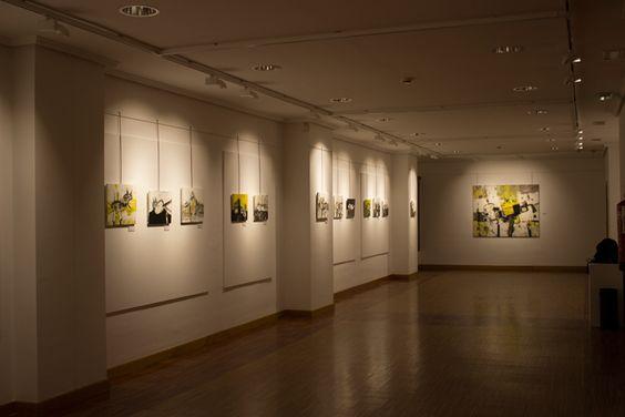 """Foto_6 Exposición en Centro Municipal Integrado de L'Arena Gijón """"Retazos de la memoria, evolución II"""" Bernardo Guerra"""