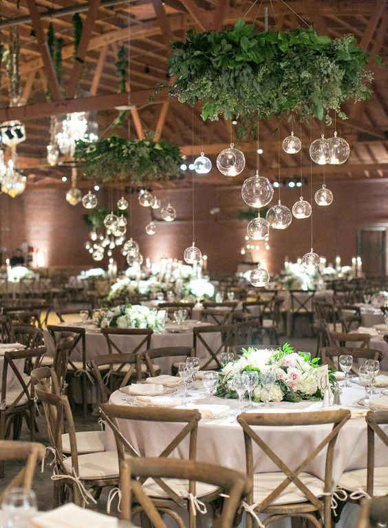 Love Those Hanging Glass Balls So Unique Beautiful Uniqueweddingideasreception Wedding Reception Inspiration Wedding Scene Wedding Reception Decorations