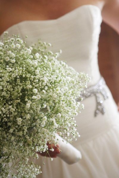DIY Wedding Flowers: Baby's Breath is very popular for brides in 2014! Easy to work with, very affordable, available year-round and simply stunning!