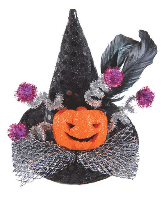 Look at this Light-Up Pumpkin Mini-Witch Hat Clip on #zulily today!