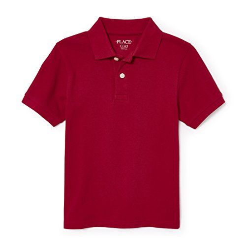 The Childrens Place Boys Toddler Long Sleeve Uniform Polo