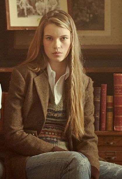 Ivy league style ~ Girls in tweed ~ Oxford cloth ~ Fair isle. blonde, blazer…