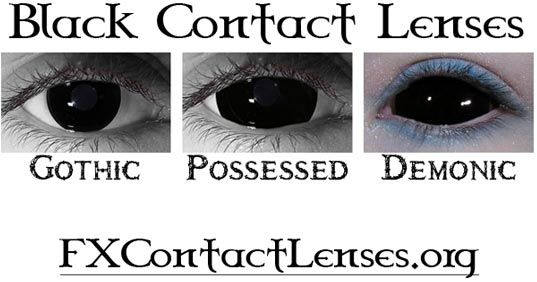 Black Contact Lenses | Halloween- Makeup FX! | Pinterest ...