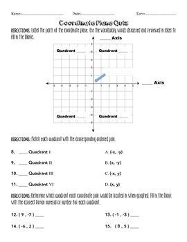 cartesian planes worksheets yr 7 pdf
