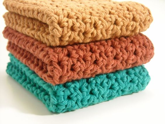 Simple Dishcloth Crochet Pattern Free : Very Easy Crochet Dishcloth Patterns Cavern of ...