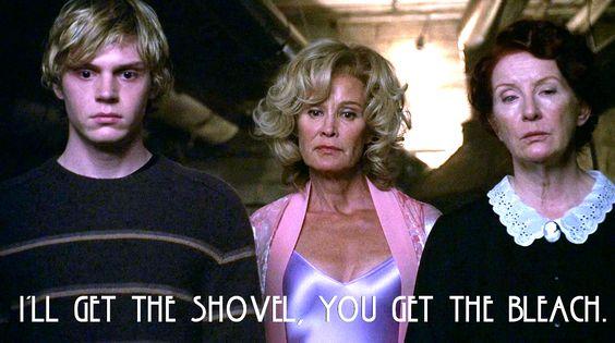 I'll get the shovel, you get the bleach. #AHS #Murder House