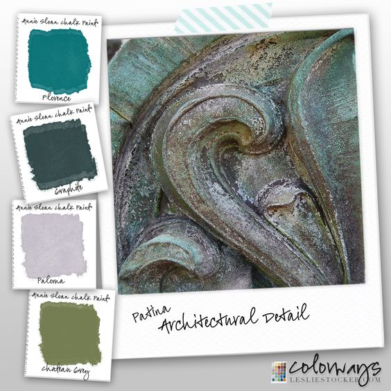 Colorways color studies natural patina seen on outside for Chalk paint comparable to annie sloan