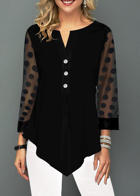43 Black Blouses For Party To Update You Wardrobe Now outfit fashion casualoutfit fashiontrends