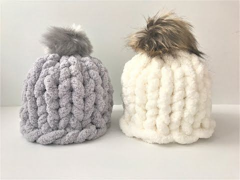 Easy knitting pattern chunky hat Over the Line