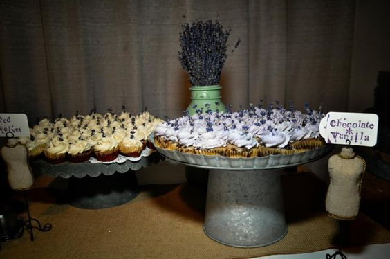 Mini Vegan cupcakes with real lavender from my wedding and #SpiralDiner