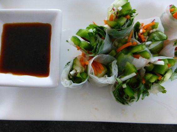 Yummy #lowfat #vegan #ricewraps