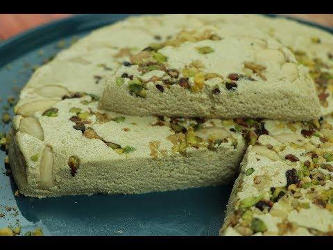 طريقة عمل حلاوة الطحينية او حلاوة الشامية رهش مع رباح محمد الحلقة 596 Youtube Food Baking Desserts