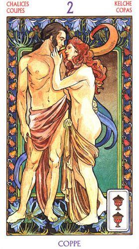 Tarot Art Nouveau ► Two of Cups