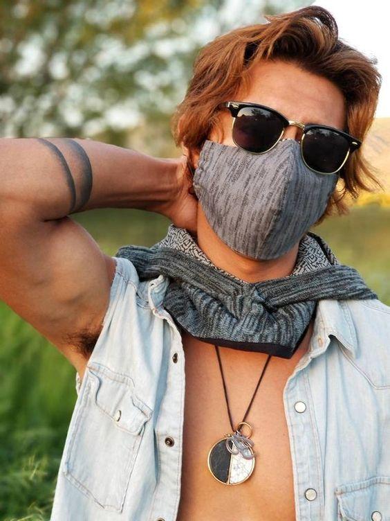 Rave Mask Festival Mask Dust Mask Face Mask Reversible | Etsy