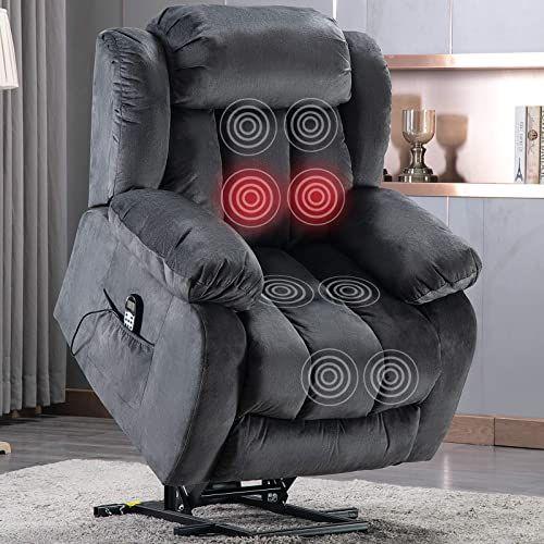 Amazing Offer On Anj Power Massage Lift Recliner Chair Heat Vibration Elderly Heavy Duty Safety Motion Reclining Mechanism Antiskid Fabric Sofa Contempo In 2020 Lift Recliners Fabric Sofa Recliner Chair