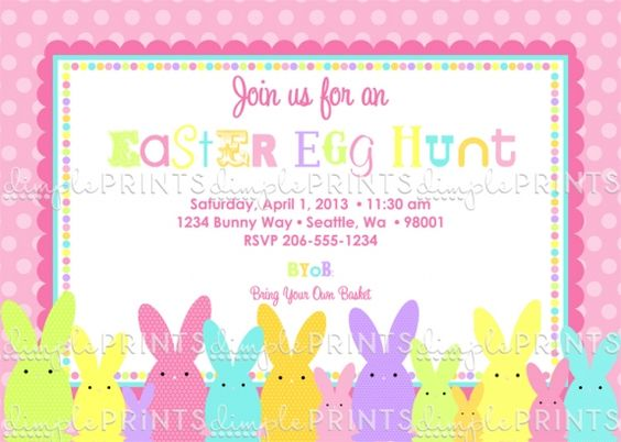 invitation easter egg hunt - Google Search