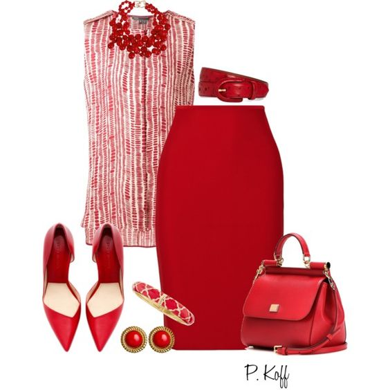 ALL Red! by pkoff on Polyvore featuring moda, Vince, Roland Mouret, Dolce&Gabbana, Kenneth Jay Lane, Sequin, Ben-Amun and Brooks Brothers